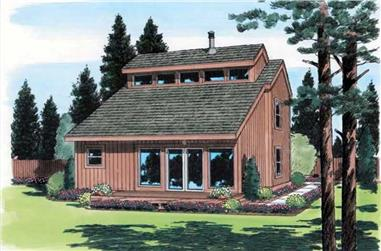 2-Bedroom, 1210 Sq Ft Contemporary House Plan - 131-1051 - Front Exterior