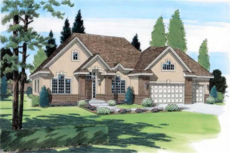 1-Bedroom, 2110 Sq Ft Ranch House Plan - 131-1054 - Front Exterior