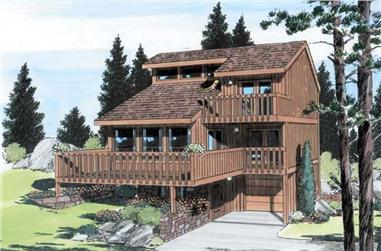 3-Bedroom, 1710 Sq Ft Contemporary Home Plan - 131-1059 - Main Exterior