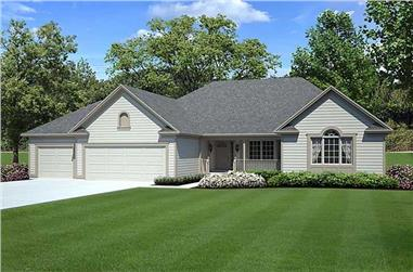 2-Bedroom, 1738 Sq Ft Small House Plans - 131-1060 - Front Exterior