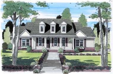 3-Bedroom, 2837 Sq Ft Cape Cod Home Plan - 131-1063 - Main Exterior