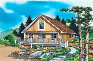 2-Bedroom, 1003 Sq Ft Country House Plan - 131-1075 - Front Exterior