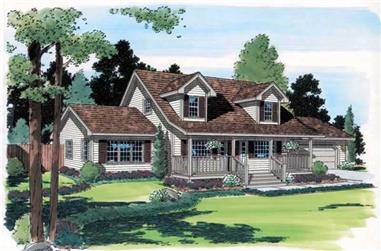 3-Bedroom, 1712 Sq Ft Cape Cod House Plan - 131-1076 - Front Exterior