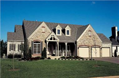 4-Bedroom, 3947 Sq Ft Country House Plan - 131-1079 - Front Exterior