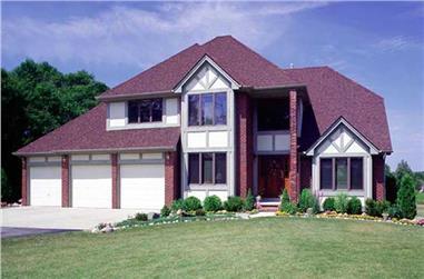 3-Bedroom, 2674 Sq Ft European Home Plan - 131-1082 - Main Exterior