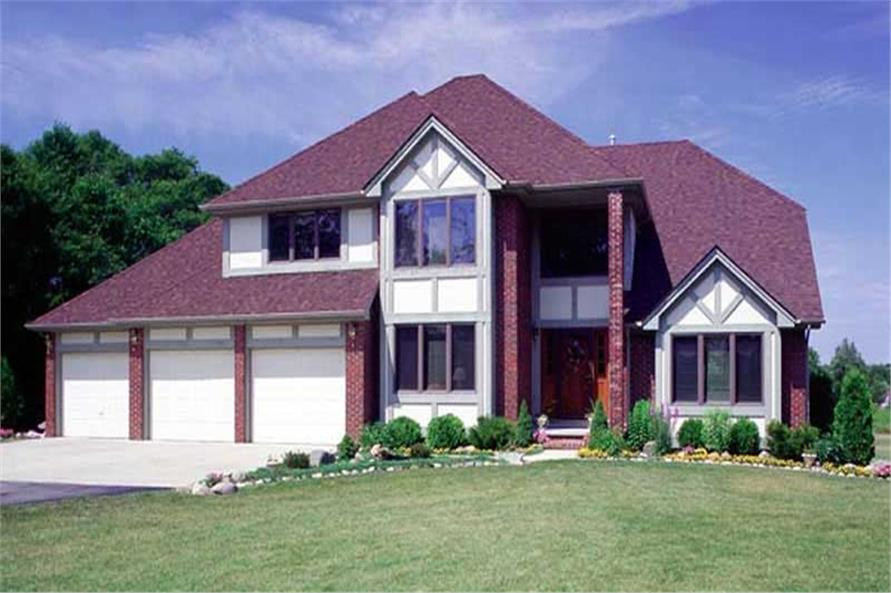 3-Bedroom, 2674 Sq Ft European Home Plan - 131-1082 - Main Exterior