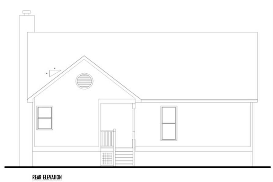 Home Plan Rear Elevation of this 3-Bedroom,1463 Sq Ft Plan -131-1083