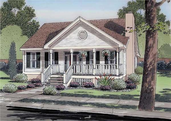 house plan GAR-74003 front elevation