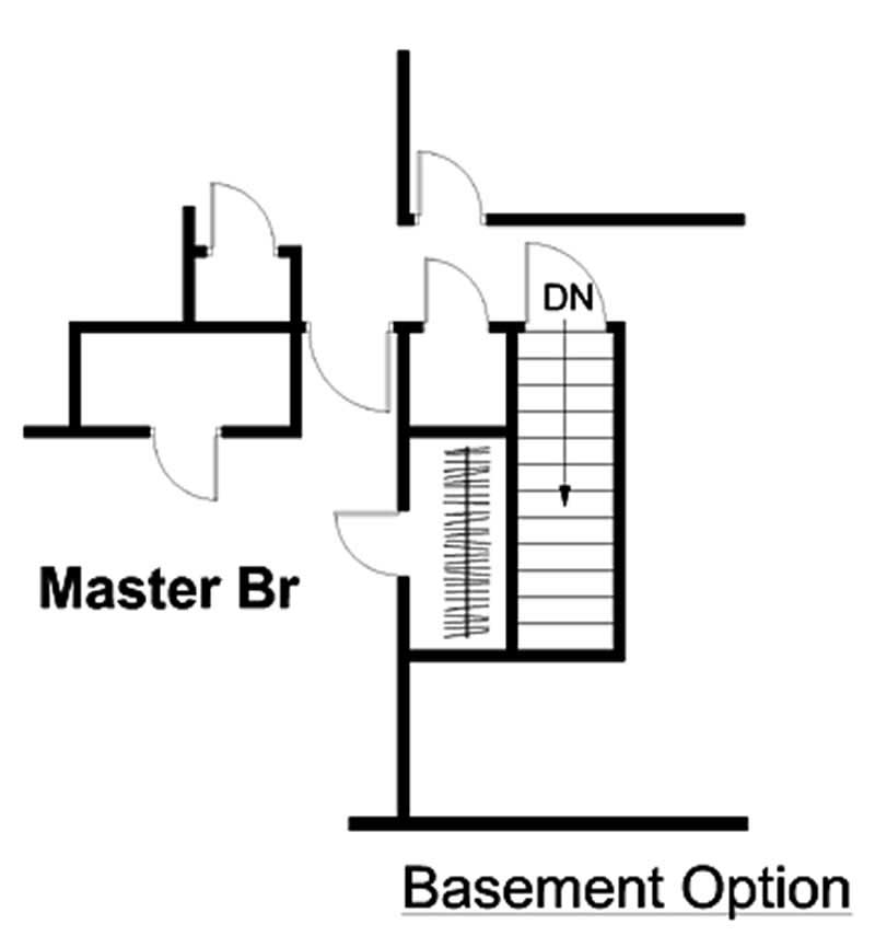 house plan GAR-74003 basement option