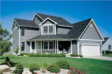 3-Bedroom, 1763 Sq Ft Country House Plan - 131-1091 - Front Exterior