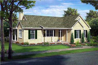 3-Bedroom, 1540 Sq Ft Country Home Plan - 131-1094 - Main Exterior