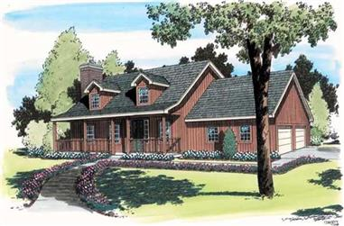 3-Bedroom, 1954 Sq Ft Cape Cod House Plan - 131-1095 - Front Exterior
