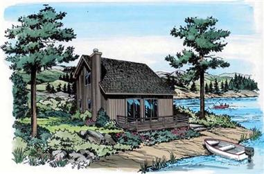 3-Bedroom, 1231 Sq Ft Contemporary Home Plan - 131-1099 - Main Exterior