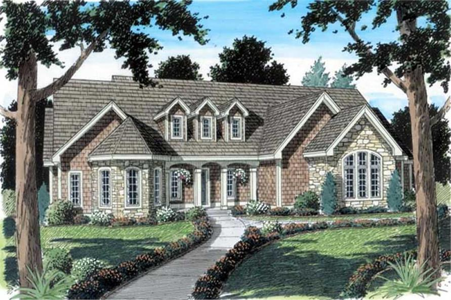 3-Bedroom, 2179 Sq Ft Cape Cod Home Plan - 131-1106 - Main Exterior