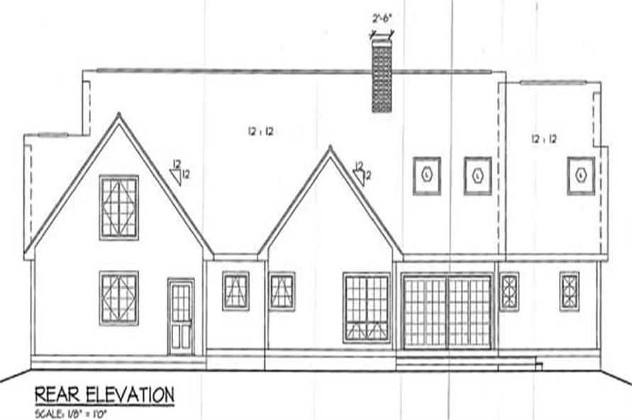 Home Plan Rear Elevation of this 3-Bedroom,2179 Sq Ft Plan -131-1106