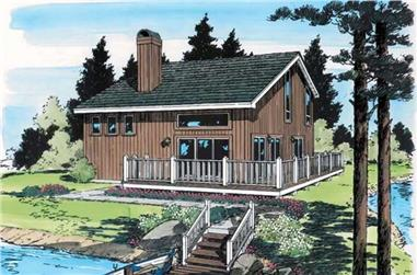 3-Bedroom, 1298 Sq Ft Vacation Homes Home Plan - 131-1111 - Main Exterior