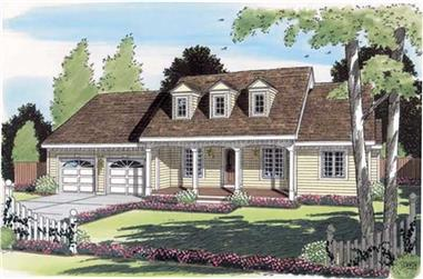 3-Bedroom, 1702 Sq Ft Cape Cod House Plan - 131-1116 - Front Exterior