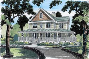 4-Bedroom, 1982 Sq Ft Country Home Plan - 131-1120 - Main Exterior