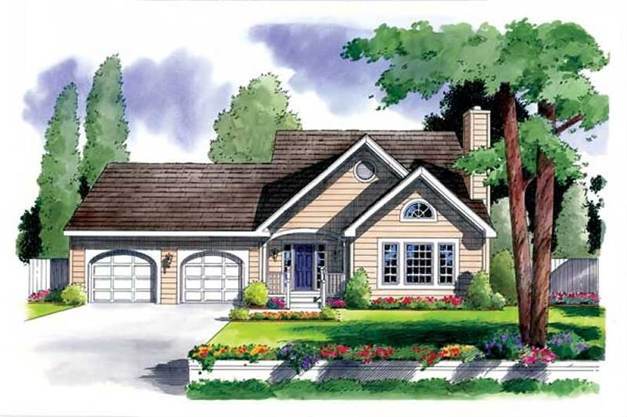 Main image for house plan # 20077