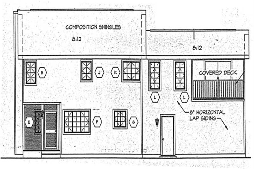 Home Plan Rear Elevation of this 2-Bedroom,1741 Sq Ft Plan -131-1122