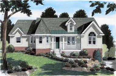 3-Bedroom, 1990 Sq Ft Country House Plan - 131-1125 - Front Exterior