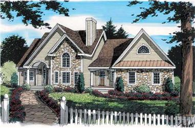 3-Bedroom, 2161 Sq Ft Country House Plan - 131-1127 - Front Exterior