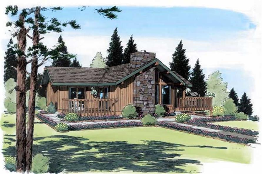 2-Bedroom, 1127 Sq Ft Country House Plan - 131-1128 - Front Exterior