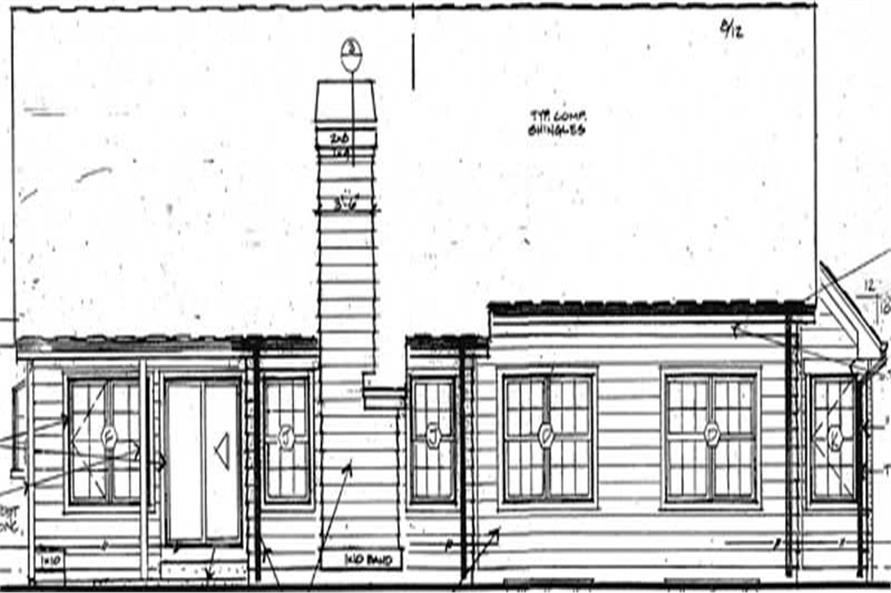 Home Plan Rear Elevation of this 4-Bedroom,2672 Sq Ft Plan -131-1130