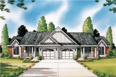 3-Bedroom, 2860 Sq Ft Multi-Unit Home Plan - 131-1132 - Main Exterior