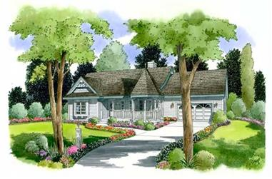 3-Bedroom, 1452 Sq Ft Ranch House Plan - 131-1133 - Front Exterior