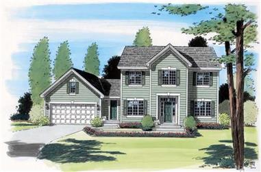 4-Bedroom, 2342 Sq Ft Colonial House Plan - 131-1137 - Front Exterior