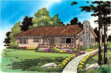 3-Bedroom, 1146 Sq Ft Ranch House Plan - 131-1138 - Front Exterior