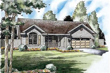 3-Bedroom, 1312 Sq Ft Ranch Home Plan - 131-1140 - Main Exterior