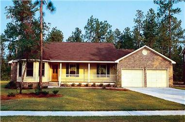 3-Bedroom, 1583 Sq Ft Country Home Plan - 131-1145 - Main Exterior