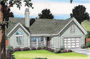 3-Bedroom, 1831 Sq Ft Ranch Home Plan - 131-1146 - Main Exterior