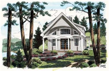 2-Bedroom, 1093 Sq Ft Vacation Homes House Plan - 131-1147 - Front Exterior