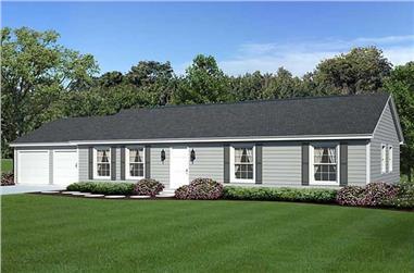 3-Bedroom, 1400 Sq Ft Ranch Home Plan - 131-1148 - Main Exterior