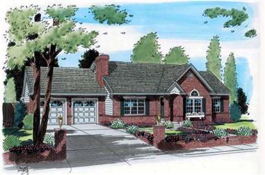 2-Bedroom, 1330 Sq Ft Ranch Home Plan - 131-1149 - Main Exterior