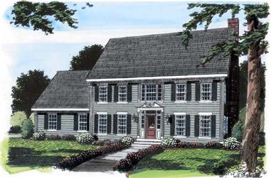 4-Bedroom, 2616 Sq Ft Colonial Home Plan - 131-1152 - Main Exterior