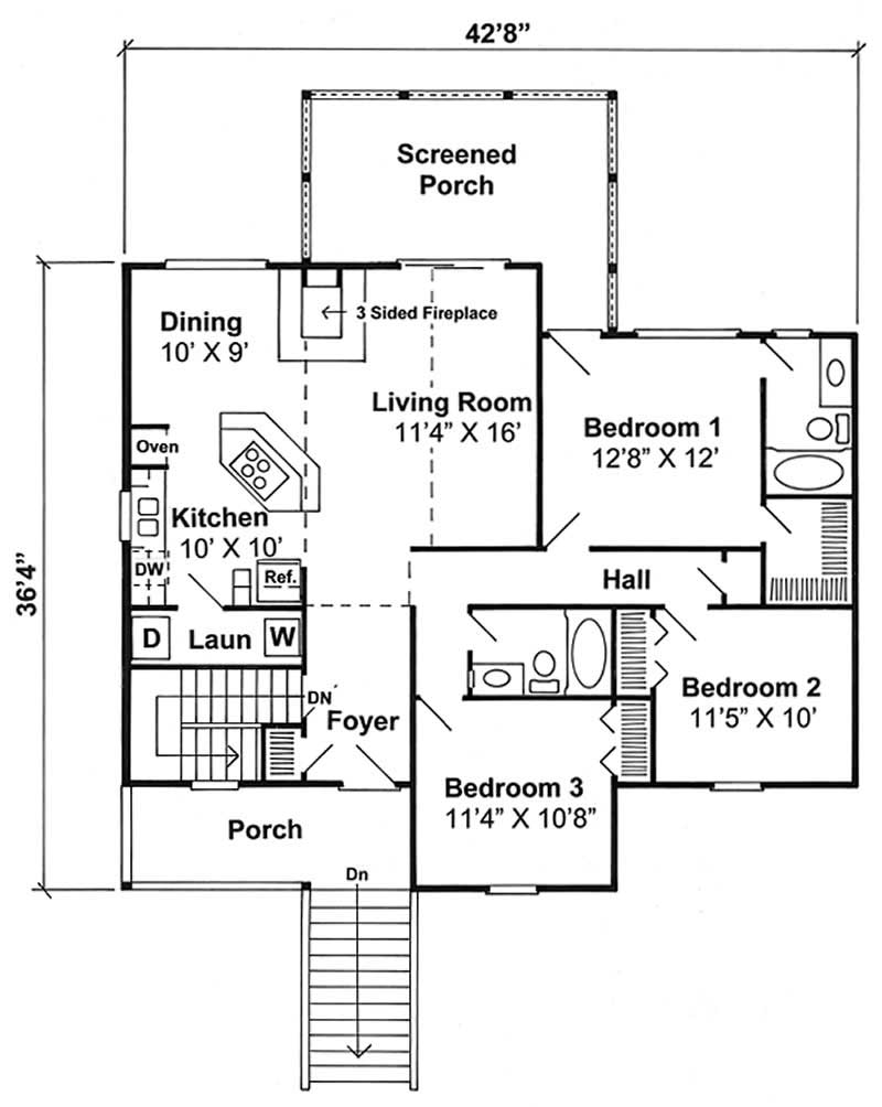 house plan GAR-74006 first floor