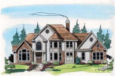 4-Bedroom, 4054 Sq Ft European House Plan - 131-1161 - Front Exterior