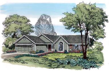 3-Bedroom, 1486 Sq Ft Country Home Plan - 131-1162 - Main Exterior