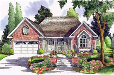 3-Bedroom, 1837 Sq Ft Country House Plan - 131-1165 - Front Exterior