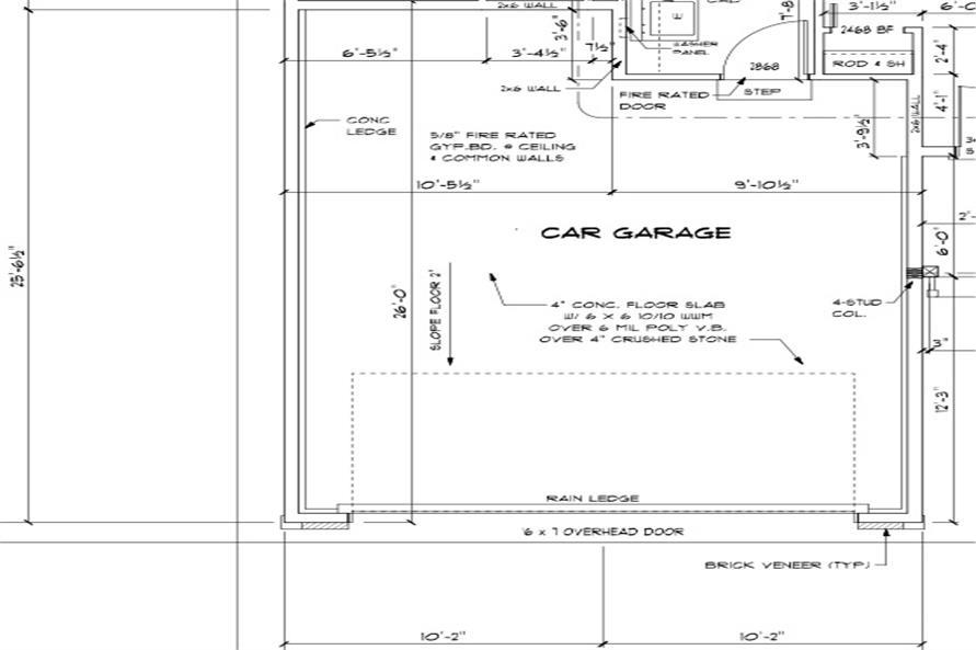 garage dimension