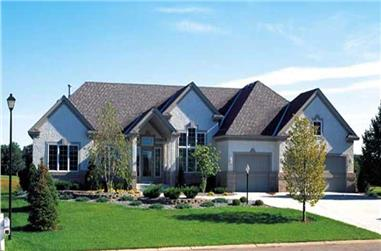 4-Bedroom, 4064 Sq Ft Contemporary Home Plan - 131-1166 - Main Exterior