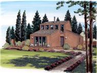 This is a color rendering of these contemporary house plans.