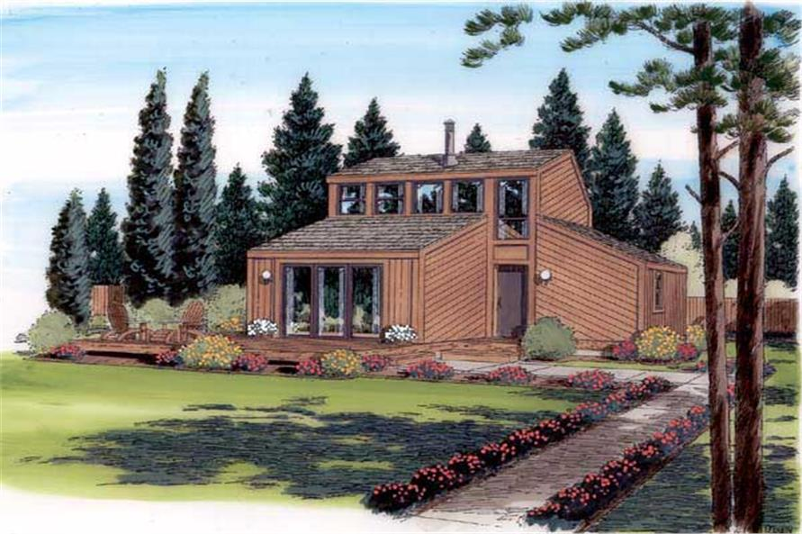 1-Bedroom, 888 Sq Ft Contemporary House Plan - 131-1169 - Front Exterior