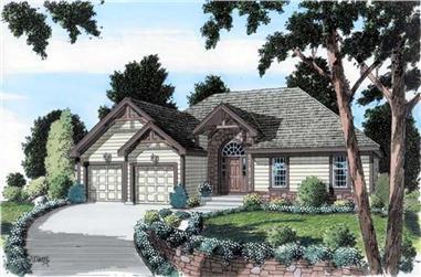 3-Bedroom, 1661 Sq Ft Ranch Home Plan - 131-1171 - Main Exterior