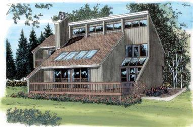 3-Bedroom, 1469 Sq Ft Contemporary Home Plan - 131-1172 - Main Exterior