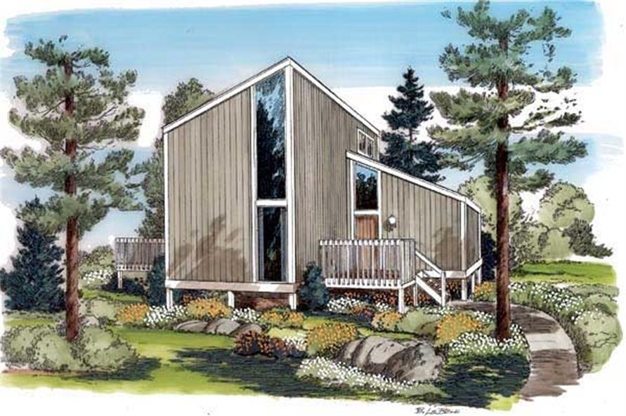2-Bedroom, 1038 Sq Ft Contemporary Home Plan - 131-1173 - Main Exterior
